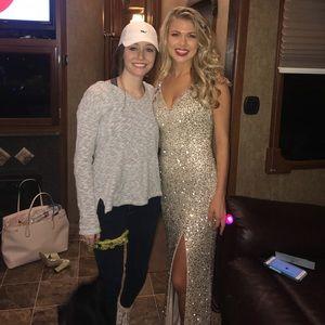 Stunning gold sequin prom dress